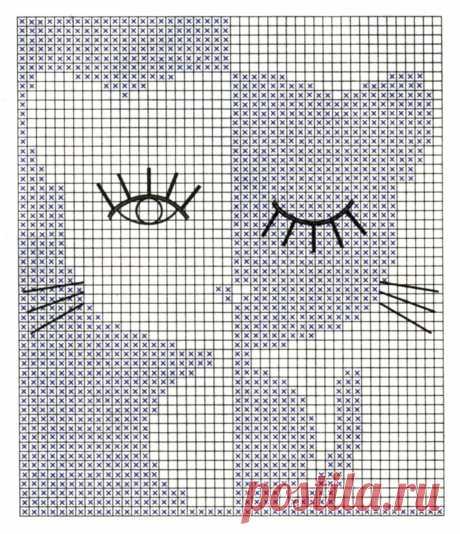 Котик - вышивка крестом