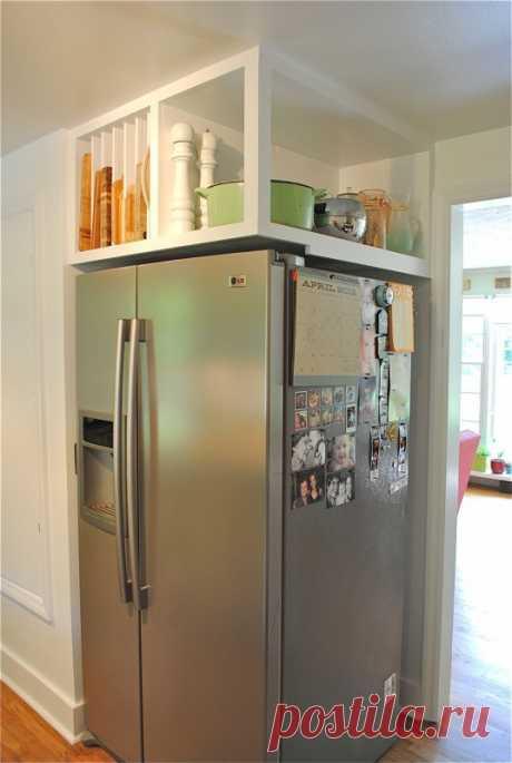 Пристройка над холодильником Модная одежда и дизайн интерьера своими руками