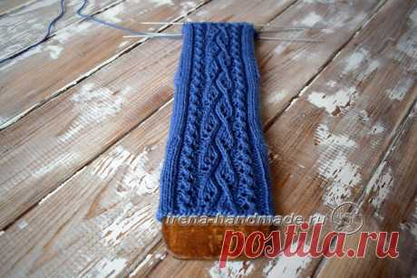 Ажурный узор «Капельки» (вязание, схемы и фото) - Irena Handmade