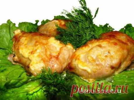 Куриные грудки , запеченные с ананасом