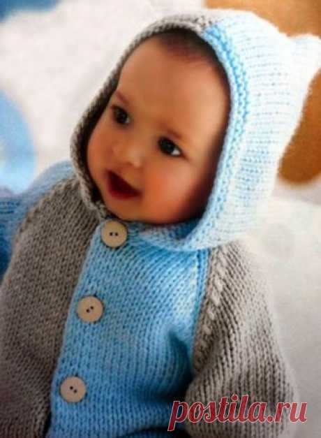 """Вяжем детский свитер: пошаговое описание Совет 1: Как вязать детский свитер спицами Вязаный свитер с капюшоном выполнен вязкой с дополнением узора """"коса"""" пряжей из 100% овечьей шерсти. Свитер трикотажный регланом с рукавами и капюшоном.  Вам понадобится  Размер: 80."""