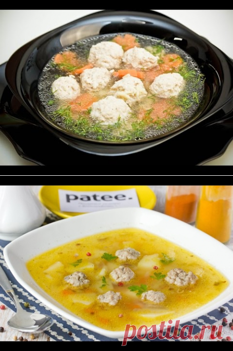 Суп с фрикадельками на курином бульоне. Куриный суп с фрикадельками. Быстрый суп. - YouTube
