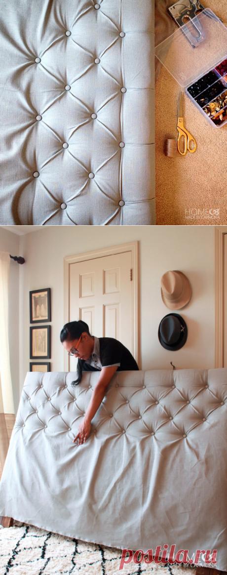 Как сделать мягкое изголовье кровати | Рукоделие