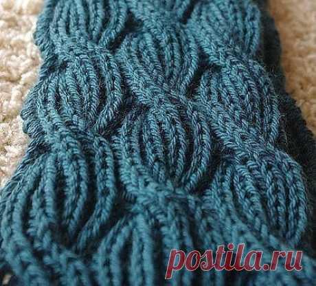 Такой модный шарф в технике Бриошь (BRIOCHE). Попробуйте и вы!