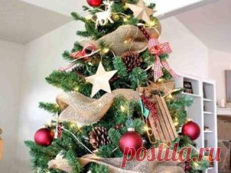 Экстравагантная красная клетка и мешковина в праздничном декоре - Ярмарка Мастеров - ручная работа, handmade
