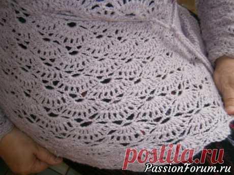 Сиреневые веерочки. | Женская одежда крючком. Схемы и описание