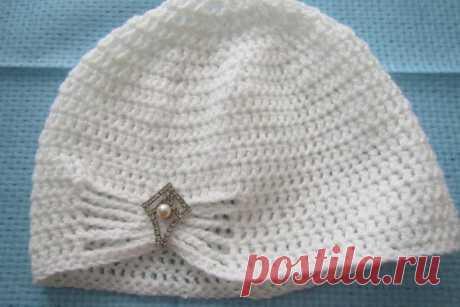 Вяжем шапочку для девочки крючком | CityWomanCafe.com