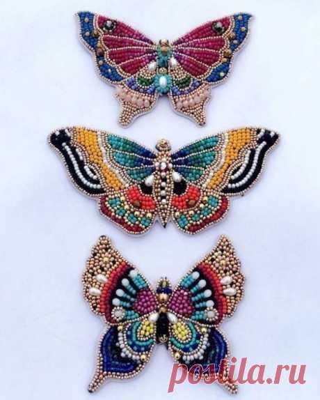 Вышиваем бабочек