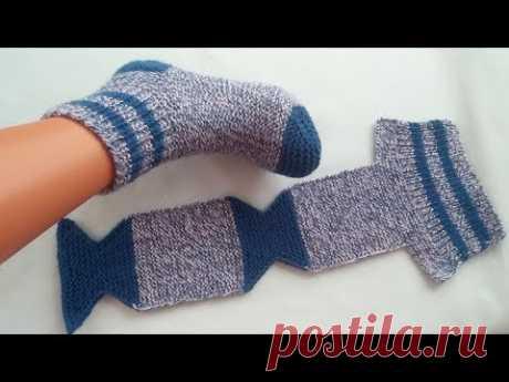 En Kolay 2 Şiş Çorap Patik Modeli | Renkli Hobi