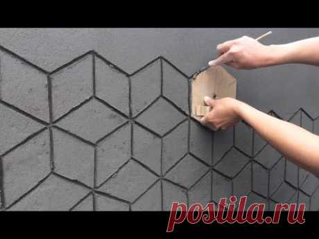 Amazing Construction Ideas 3D Construction From Cement On The Wall - Creative Construction Skills