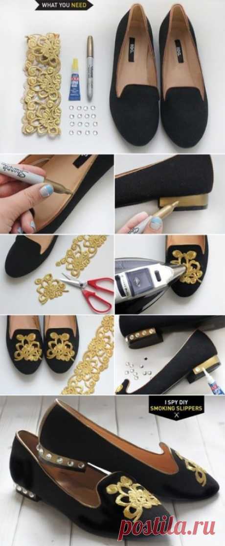Идеи обновления обуви с помощью подручных средств. 17 примеров преображения