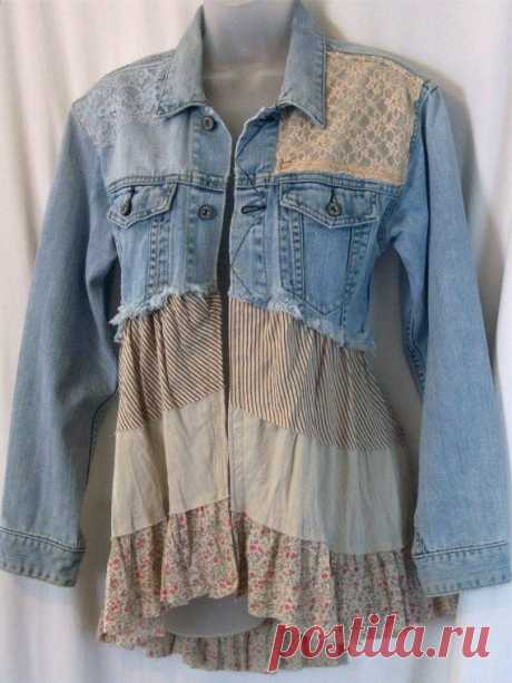 Embellished denim jacket, jean jacket, bohemian clothing,unique…