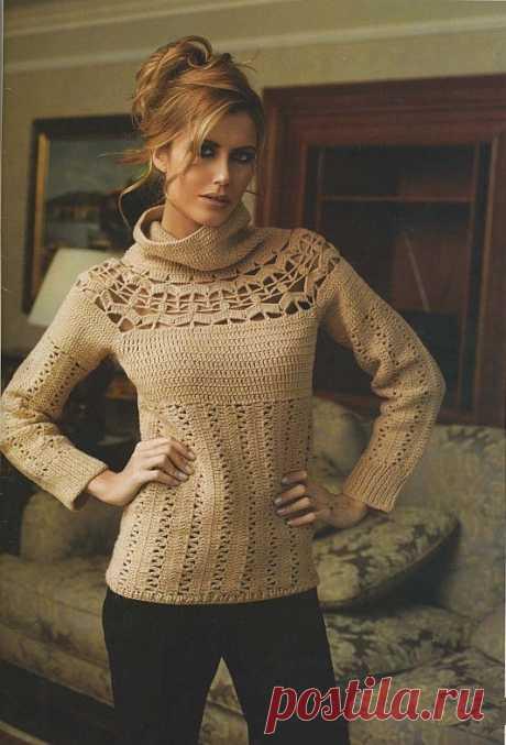Красивый свитер крючком