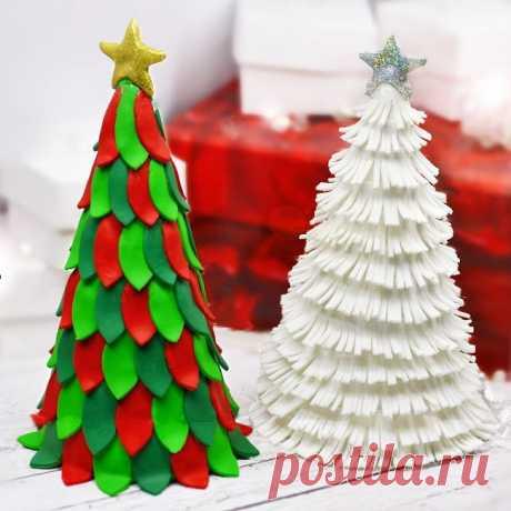 Елочка из полимерной глины своими руками. Мастер-классы Первый день зимы наступил! Наконец-то пришла зима с морозами, снегом и конечно, со всеми праздниками. А это значит, что весь декабрь мы будем продолжать творить свои собственные чудеса, чтобы Новый год и Рождество засверкали, как снежинки при лунном свете. Подарки своими руками - вот, что требует нашего особого внимания и заботы. Сегодня на повестке дня отличная идея для сувенира - ёлочка из полимерной глины.
