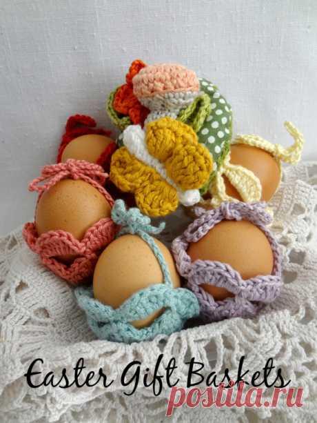 Easter Egg Gift Basket Crochet pattern Easter egg от sewella