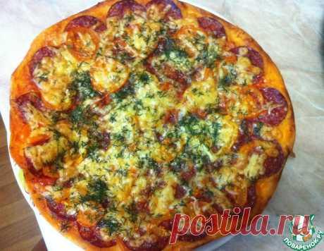 Пицца на тонком тесте – кулинарный рецепт