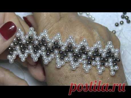 Materiales Perlas de 0,4 chafas negras de 0,4 sedal de 0,25 tijeras En mi canal podrás encontrar con cierta frecuencia vídeos sobre manualidades y entretenim...