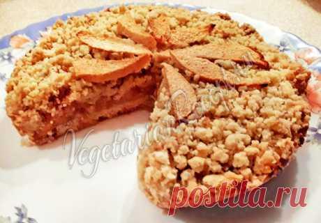 Постный пирог с айвой Вкусный, полезный и простой в приготовлении!
