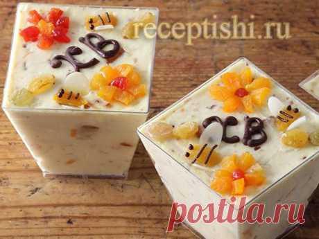 Пасха творожная на скорую руку   Кулинарные рецепты с фото на Рецептыши.ру