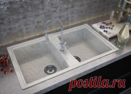Marble sinks for kitchen: pluses and minuses, rules of leaving.