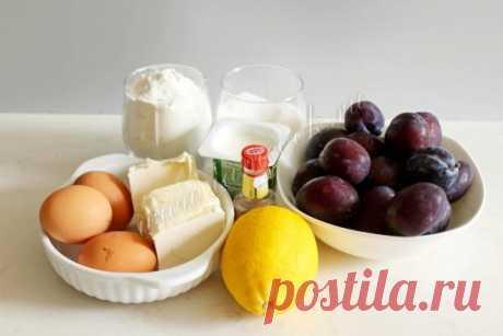 Пирог со сливой на йогурте — рецепт с фото пошагово. Как приготовить сливовый пирог на йогурте?