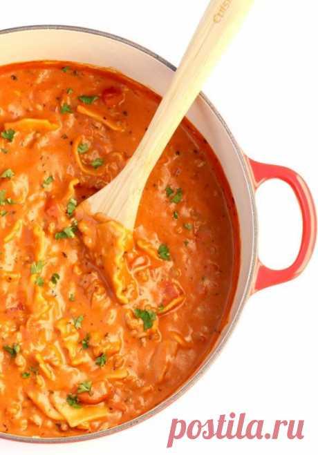 Суп с феттуччине по-итальянски — Sloosh – кулинарные рецепты