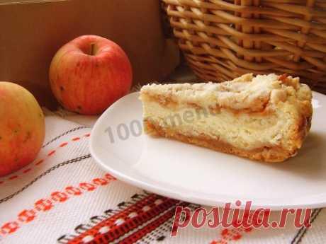Насыпной пирог с творогом и яблоками в духовке рецепт с фото - 1000.menu