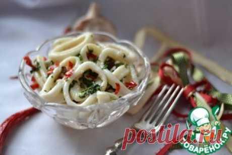Маринованные кальмары в чесночно-лимонном соусе - кулинарный рецепт