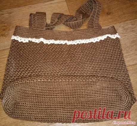. Сумка из льняной ниточки - Вязание - Страна Мам
