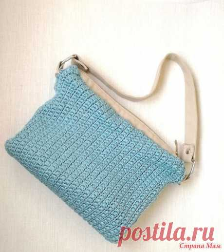 Сумка крючком. Плотный узор крючком. ( crocheted bag ) - Только любители вязания крючком - Страна Мам
