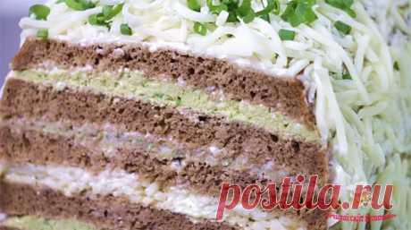 Закусочный торт с селедкой - ЛУЧШИЙ САЙТ КУЛИНАРИИ