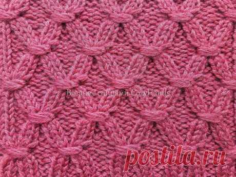 Узор спицами на основе резинки 2 на 2 для вязания шапок, свитеров   Вязание спицами CozyHands   Яндекс Дзен