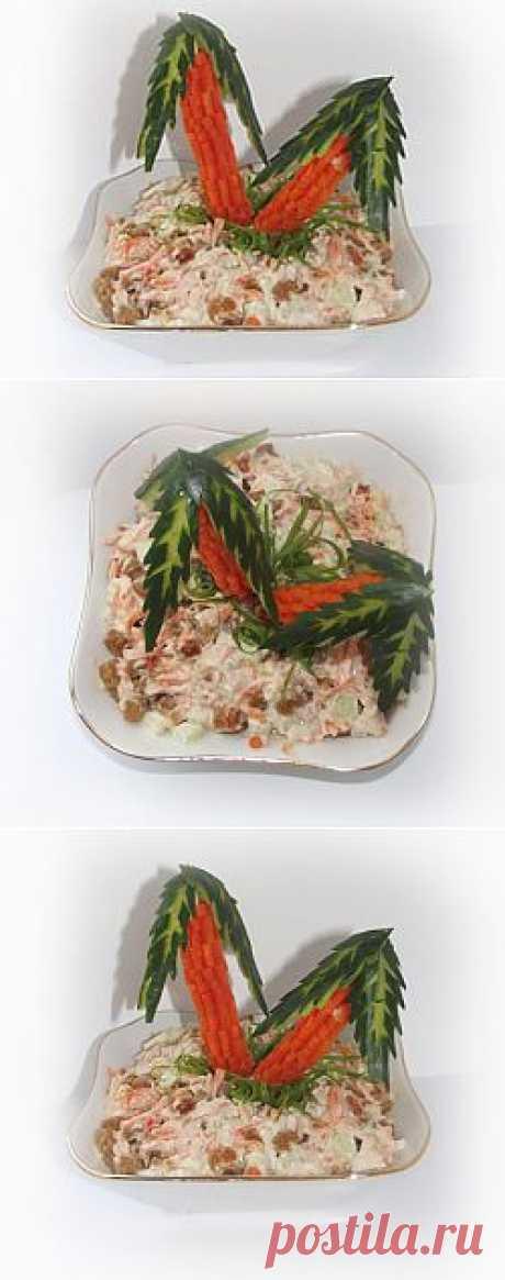 Пальмы из овощей. Мастер-класс по украшению салата