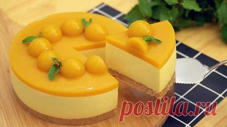 чизкейк с манго - Mango Cheesecake [No-bake] FB: https://www.facebook.com/Oh-Nino-1714364382146704/ Instagram:https://www.instagram.com/OhNino2/ ● Subscribe: https://bit.ly/2yTlyJv ●●Ingredients: ●Cooki...