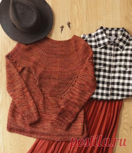 Вязаный пуловер Лори | ДОМОСЕДКА