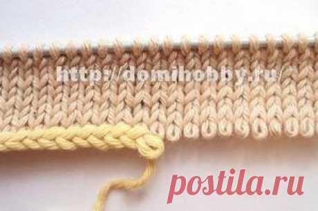 Легкий и быстрый набор петель на одну спицу с помощью крючка.