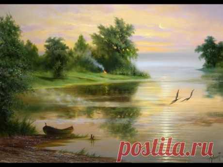 """La parte 1я. MK por la pintura (el aceite): """"Вечер"""". - YouTube"""