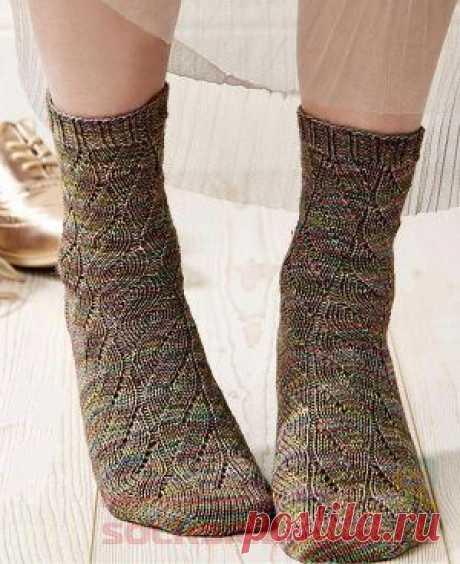 (+2) Женские носочки (Вязание спицами)