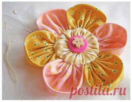Цветок из ткани / Шитье / PassionForum - мастер-классы по рукоделию