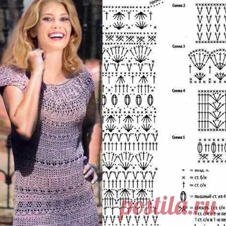 Красивое летнее платье крючком со схемой и описание!!! #crochet_ru #handmade #вязание_на_заказ #рукоделие #платьекрючком #платьесосхемой…