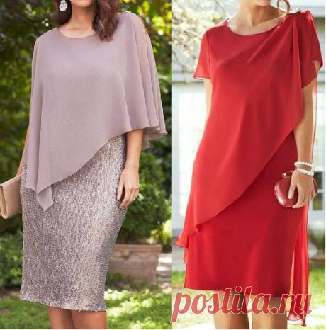 Простая выкройка шикарного платья Размеры 36 - 56 (евро).
