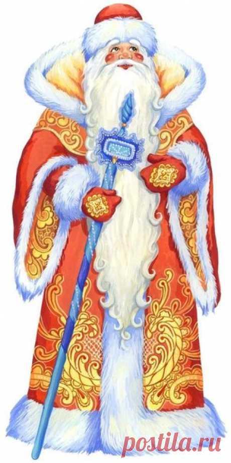 Картинки для декупажа. Дед Мороз и Санта Клаус | ХорошоДома!