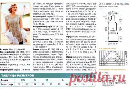 вязанные туники со схемами и описанием спицами для женщин: 13 тыс изображений найдено в Яндекс.Картинках