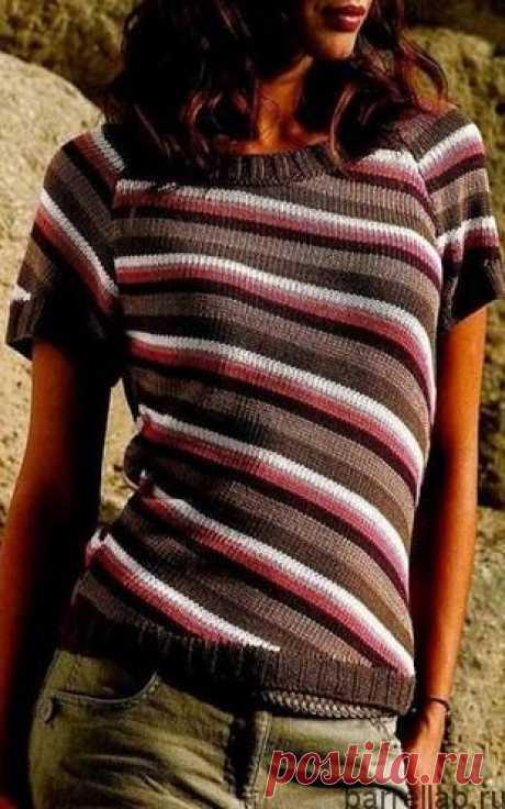 Кофточка с диагональным узором спицами. Вязаная спицами женская кофточка | Вязание для всей семьи