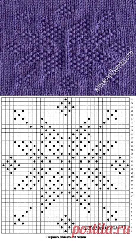 pattern the 483rd asterisk from front and back loops | the catalog knitted spokes of patterns
