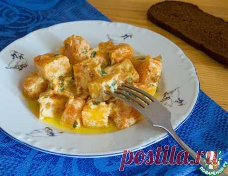 Тыква в сметанно-чесночном соусе – кулинарный рецепт