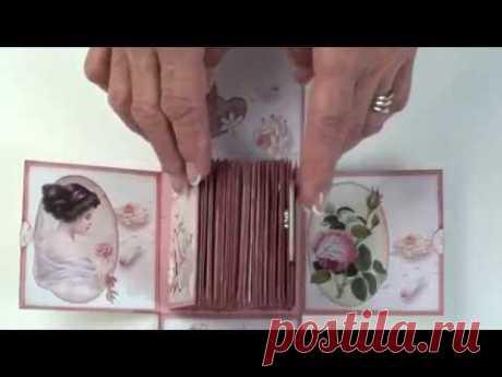 155   Exploding box with mini album inside for Megs Garden