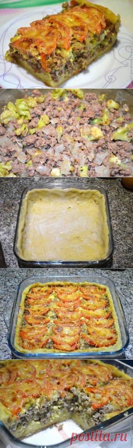 Как приготовить открытый мясной пирог - рецепт, ингредиенты и фотографии