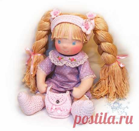 выкройка шарнирной куклы Дуняши с одеждой (по мотивам вальдорфских кукол)