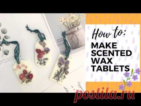 Easy DIY Scented Wax Tablet 香薰蠟片 (Palm-free Recipe included)